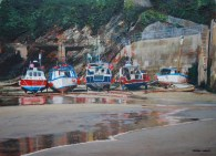 Newquay Harbour at low tide