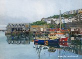 A painting of Mevagissy Quay by Glen Smith