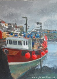 A painting of Mevagissey fising boat 'Provider