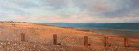 A painting of Kingstone Gorse Beach by Glen Smith