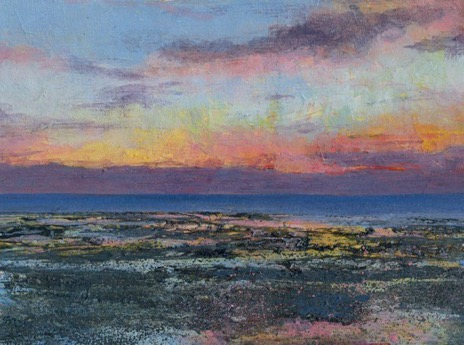 Charity postcard donated by Glen Smith entitled 'Reculver Sunset'