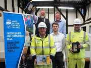 top row, from left, Julian Quail, Assistant Clerk, Midhurst Town Council, Peter Lawrence, Principal Community Officer, Chichester Partnerships and Communities Team, bottom row, Barry Mordle, Connor Mcphail and Rob Strachan from Balfour Beatty Living Places