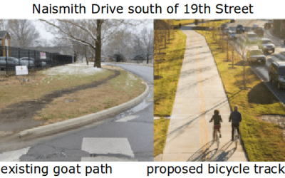 An Urgent Call for a Safe Naismith Drive Bikeway