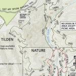 Tilden Park trail map section