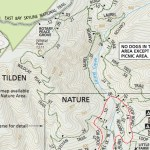 Tilden Park trail map section