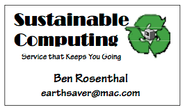 Second Business Card (Spring 2001)