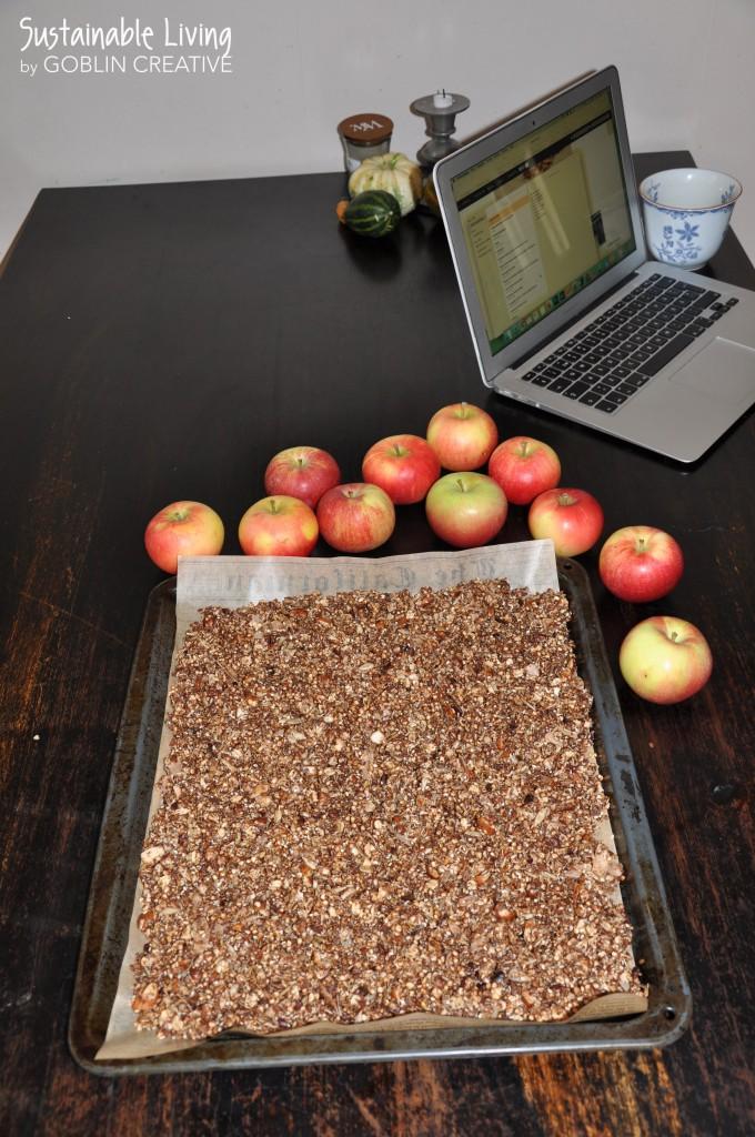 Granola och äpplen