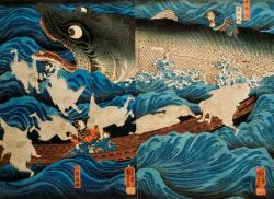 UTAGAWA-KUNIYOSHI-The-Spirit-of-Sanuki-in-Saving-Tametomo-from-Suicide-oban-size-nishiki-e-triptych_The-Rescue-of-Minamoto