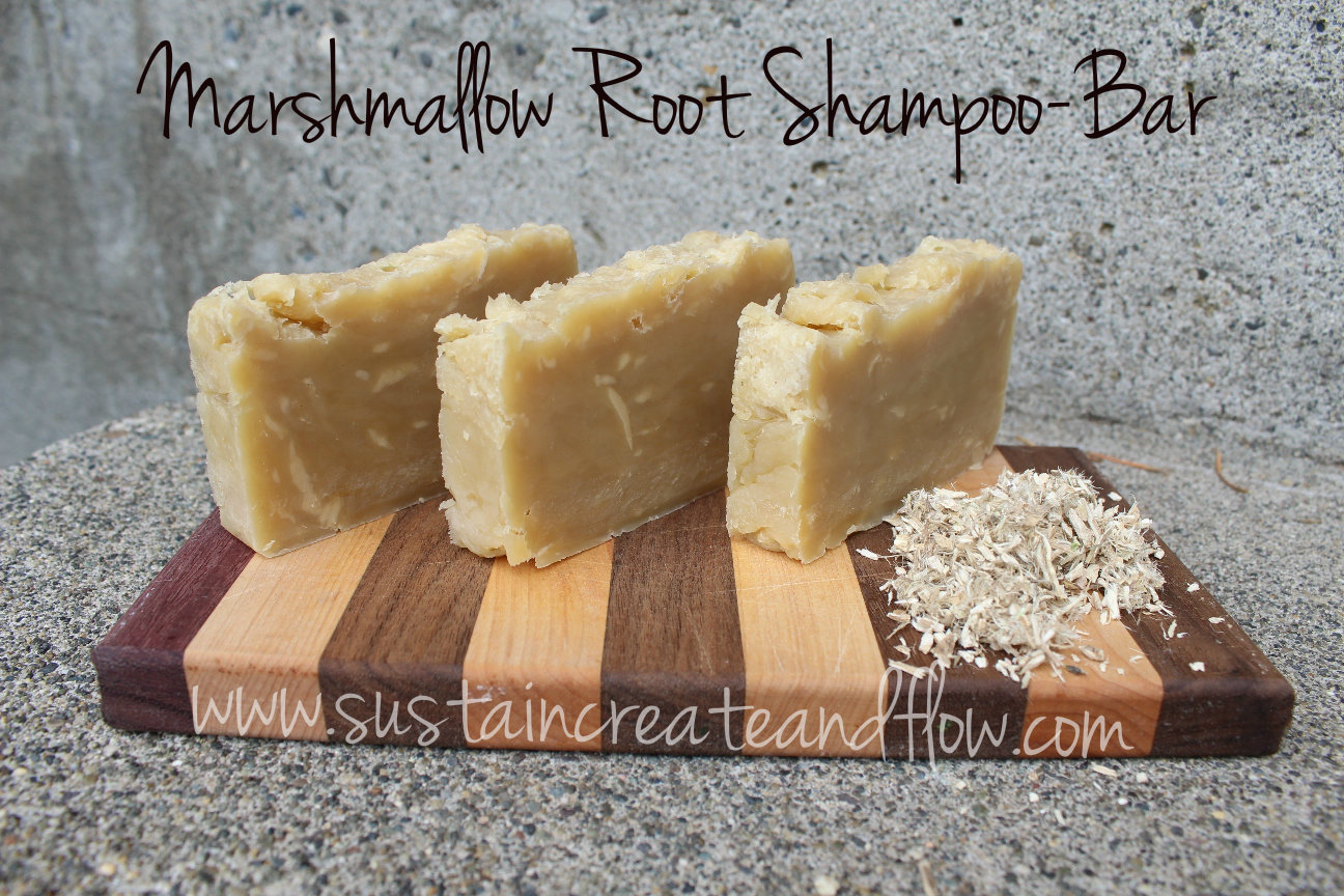 marshmallow root shampoo bar