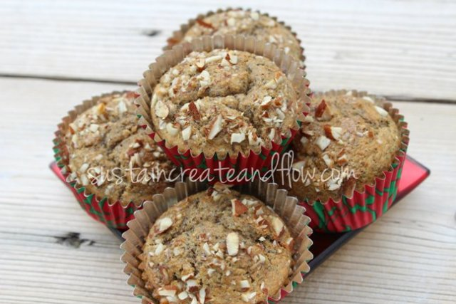 Soaked-grain-almond-poppy-muffins