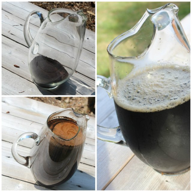 cold brewed coffee collage