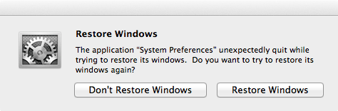 System Preferences is a single-window application that's not resizable. Why am I getting this dialog box?