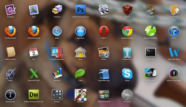 Launchpad on Sept. 2. Some of the application icons have moved around.