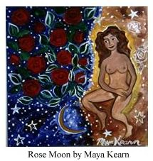Rose Moon painting by Maya Kearn