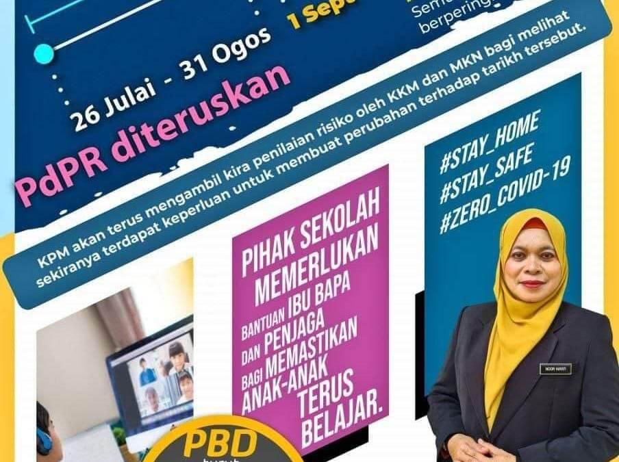 PdPR bermula esok   26 Julai – 31 Ogos 2021