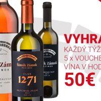 Súťaž o poukážku v hodnote 50€ na nákup vína zo Zámocké Vinárstvo Pezinok