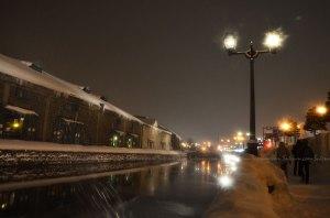 หิมะตกหนักที่คลอง Otaru