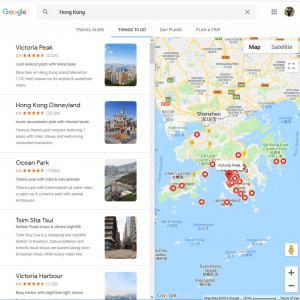 google map hong kong