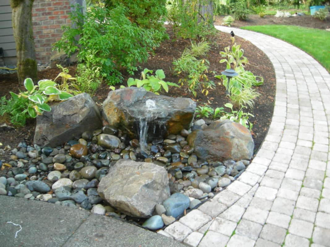 Pondless Fountains and Waterfalls: All the beauty, far ... on Water Feature Ideas For Patio id=27455