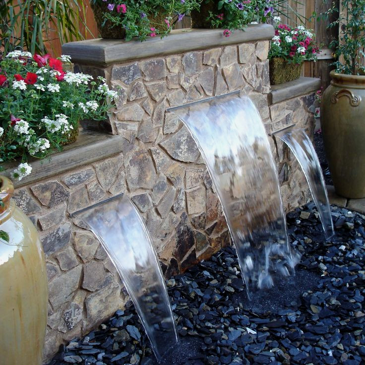 Pondless Fountains and Waterfalls: All the beauty, far ... on Small Backyard Water Features id=91308