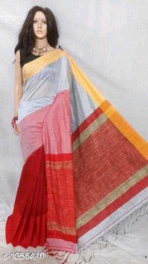 Mahapar Saree Cotton Silk Saree BP available MBSSRE-RDP-259