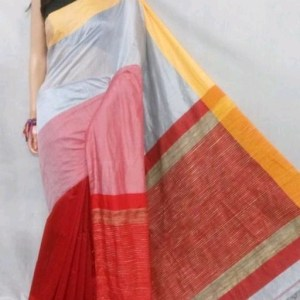 Mahapar Saree Cotton Silk Saree BP available MBSSRE-RDP-259