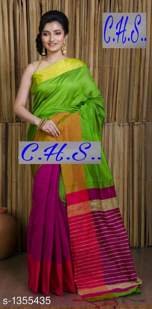Mahapar Saree Cotton Silk Saree BP available MBSSRE-RDP-257