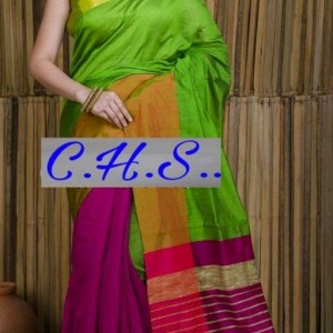 Mahapar Saree Cotton Silk Saree BP available MBSSRE-RDP-257