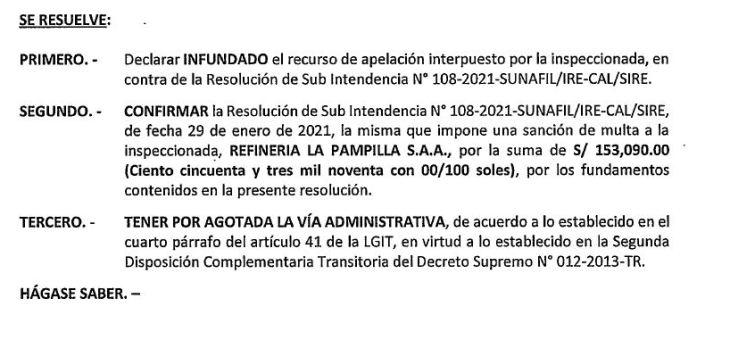 Repsol Refinería la Pampilla es sancionada por incumplimiento de normas socio laborales (darle click)