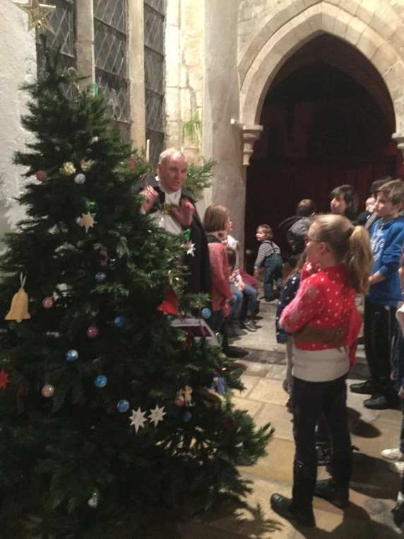 Christmas Tree & Vicar 'Father Charlie' 2015