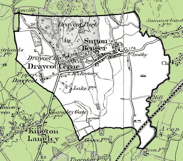 Sutton Benger Map