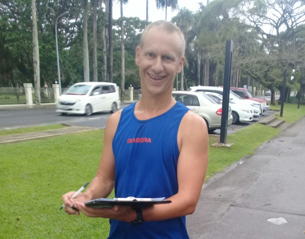 Geoff ready for next week's #suva10k #suvamarathonclub #running #runFiji #readyforachallange