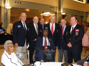 Standing Left to Right: SUVCW brothers Fred Fulcher, Harry Goodman, Pete Meyers, John France, Rolf Maris, and Dennis St. Andrew. Sitting in Front:  Luke P. Martin, Jr., Real Son of the Sons of Union Veterans of the Civil War