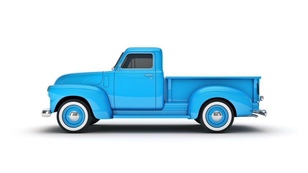 Pickup Truck. 3d rendering