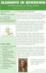 2011-01 #01 nieuwsbrief Elements in beweging