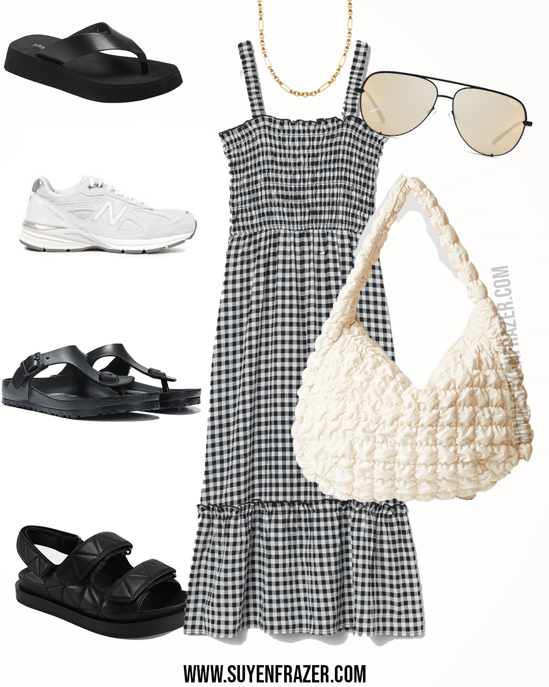 Plus-size Summer Dress Black And White Outfit