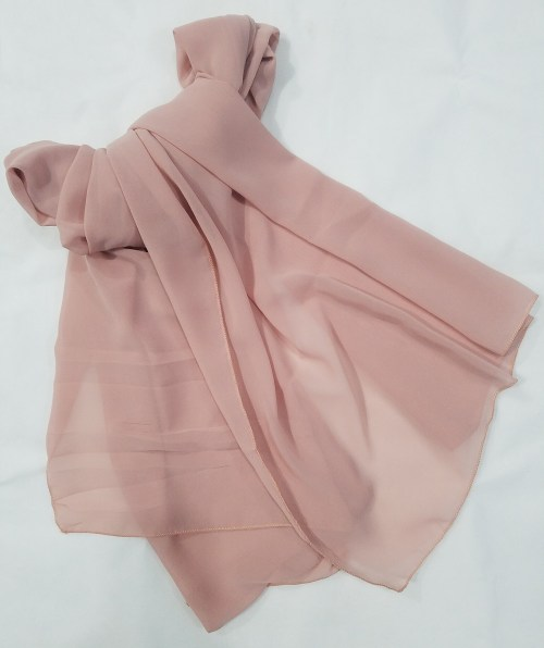 plain chiffon scarf mauve full picture