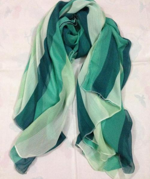 Square Scarf – Aqua Green & Blue