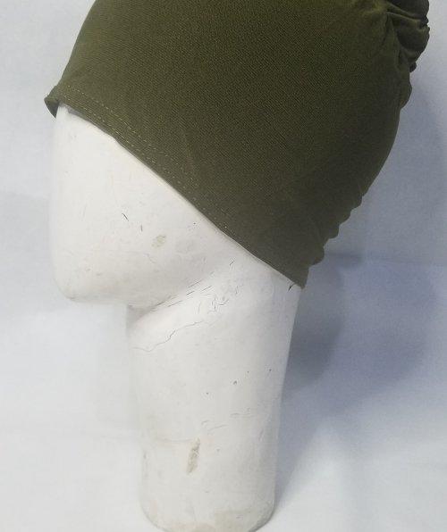 Bun Back Underscarf – Olive Green – Side Picture