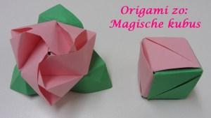 Origami zo Magische kubus