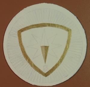 Bierviltje bierdopje op vilt goud