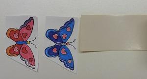 Stickers maken groot past niet op de tape