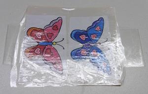 Stickers maken groot vlinders afplakken met plankband deel 2