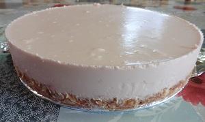 Aardbeienkwarktaart uit de taartvorm
