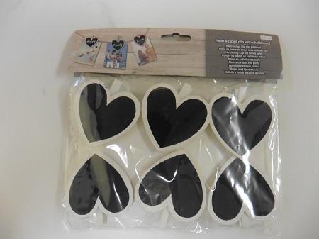Action shoplog hartvormige clip krijtbord