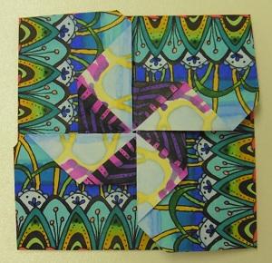 Doodle folding envelop waaier