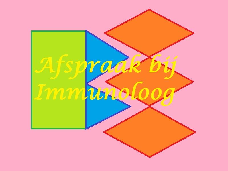 bij de immunoloog geweest