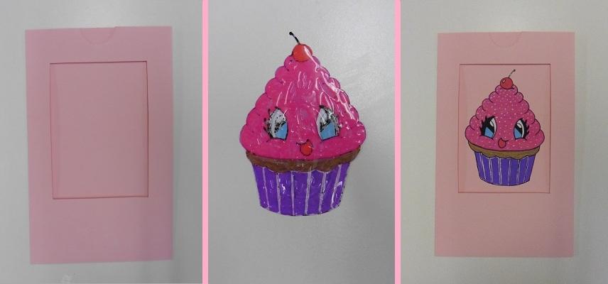 magic-kaart-cupcake-magic-flap-plakken