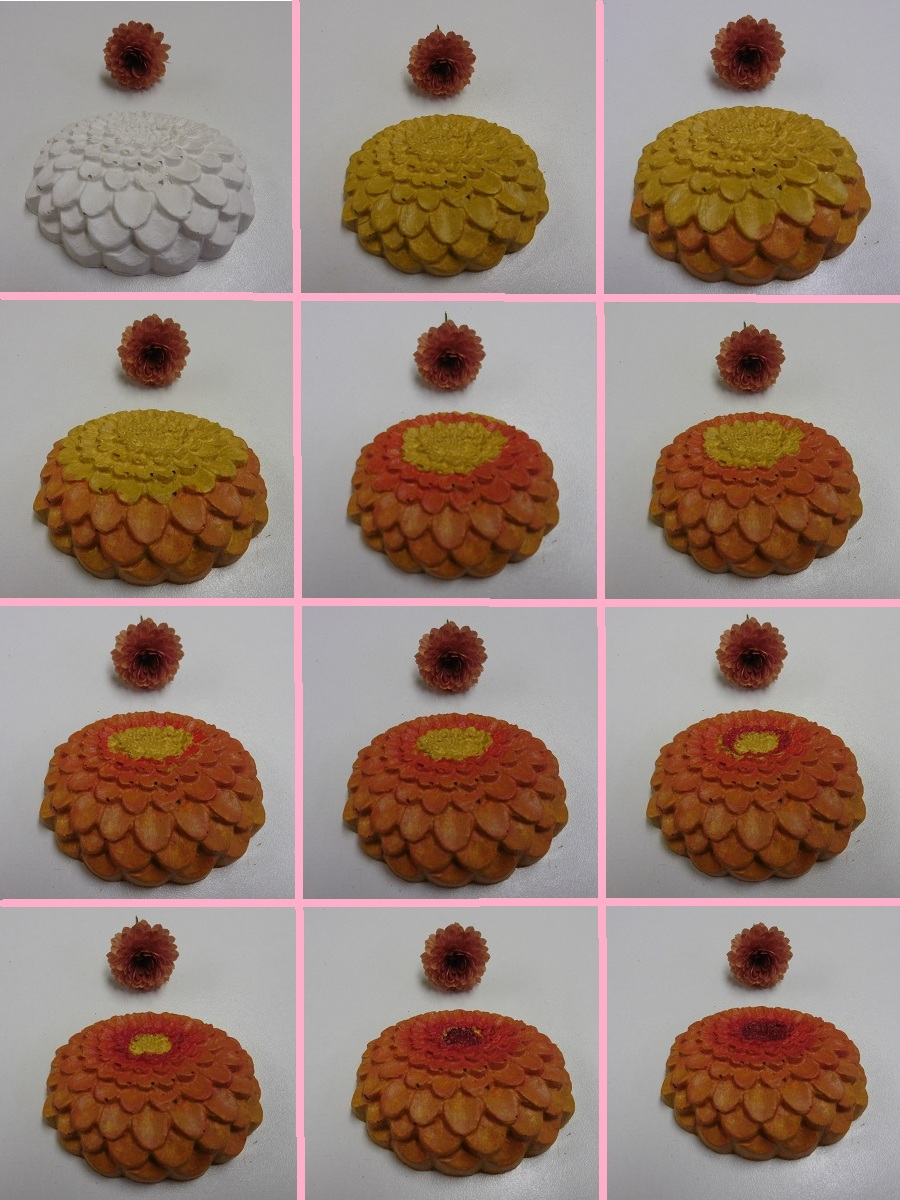 gips-bloemen-oranje-bolchrysant