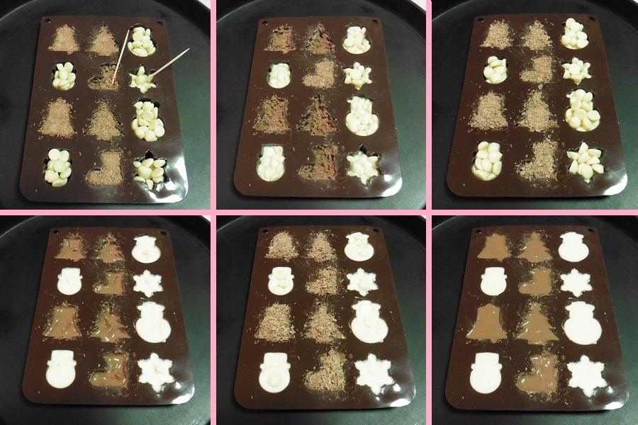 kerstchocolaatjes-het-smelten
